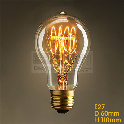 Hot-selling Free shipping A19 old style edison filament bulbs 1900s vintage decorative i ...