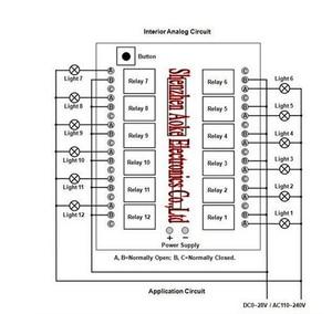 Image 5 - 12 v 12CH Fernbedienung Schalter RF Wireless Transmitter Receiver Lernen Code 8 Arten Arbeit Weg 315/433Nhz Max 5A 250VAC