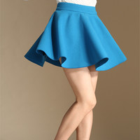 Winter Women Sexy Micro Mini Skirt High Waist Pleated Wool Short Skirt Plus Size 50% woolen A Line Tutu Skirts Saias Femininas