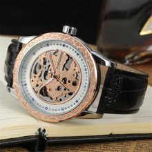 Moda Casual de Negocios Reloj Del Hombre Forsining Ganador de Lujo Relojes Mecánicos Huecos de Acero Esqueleto Diamante Dial Reloj Hombre