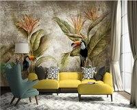 Beibehang Customize Any Wallpaper Murals Retro Tropical Rainforest Sofa TV Background Wall 3d Wallpaper Papier Peint