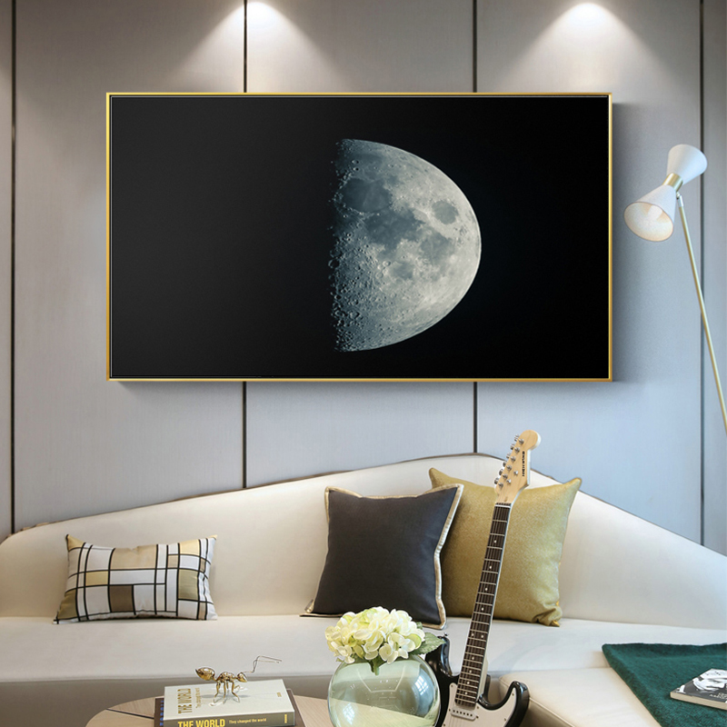 Modern HD Moon Landscape Canvas Painting Posters And Prints Home Decorative Wall Art Pictures For Living Room Bedroom Studio