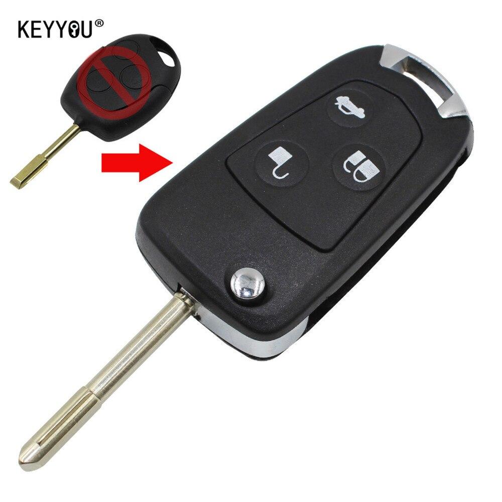 chiave telecomando per Ford Focus Mondeo 3 Tasti Remote Folding Key Flip Shell Case Uncut Blank