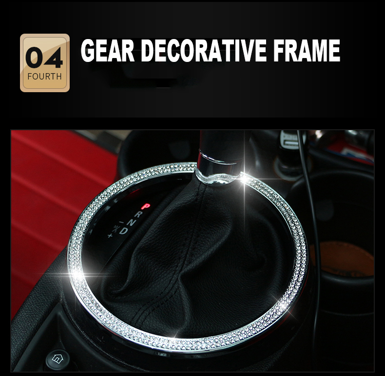 Image 5 - Central control outlet Door Sticker For Mini Cooper R55 R56 R60 R61 Car Styling Diamond Tachometer Metal Car Interior Stickers-in Interior Mouldings from Automobiles & Motorcycles