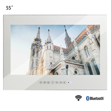 Souria 55 inches Waterproof Sauna Room LED TV Smart IP66 Wall Mounted Bathroom BIG Screen Display (Magic Mirror/ Black Color)