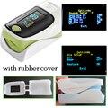 one unit CE ISO with rubber cover Finger pulse oximeter SPO2 PR monitor waveform 6 Display Modes Ossimetro oxymetre