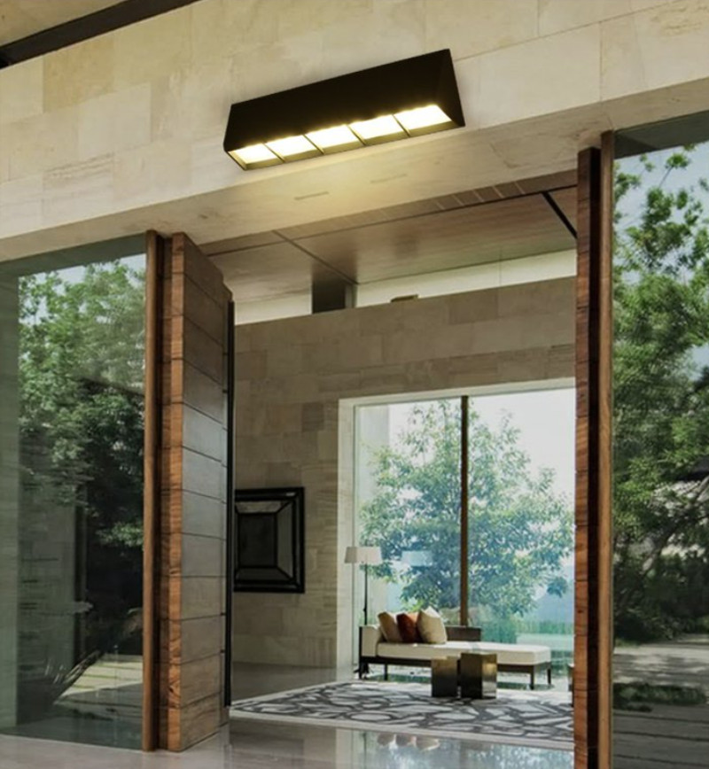 LED Aluminum Outdoor lighting Long balcony Waterproof Outdoor Wall Lamp Horizontal Led Door light Sunshine Room Garden lighting