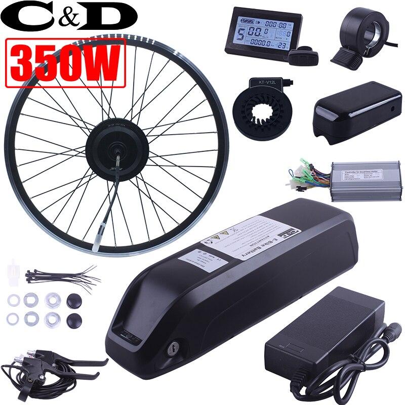 Светодиодный ЖК-дисплей дисплей 350 Вт 500 Вт бутылка батареи 36 В 12.5AH 48 В 10AH Электрический велосипед ebike conversion kit XF15F 15R двигателя MXUS Марка