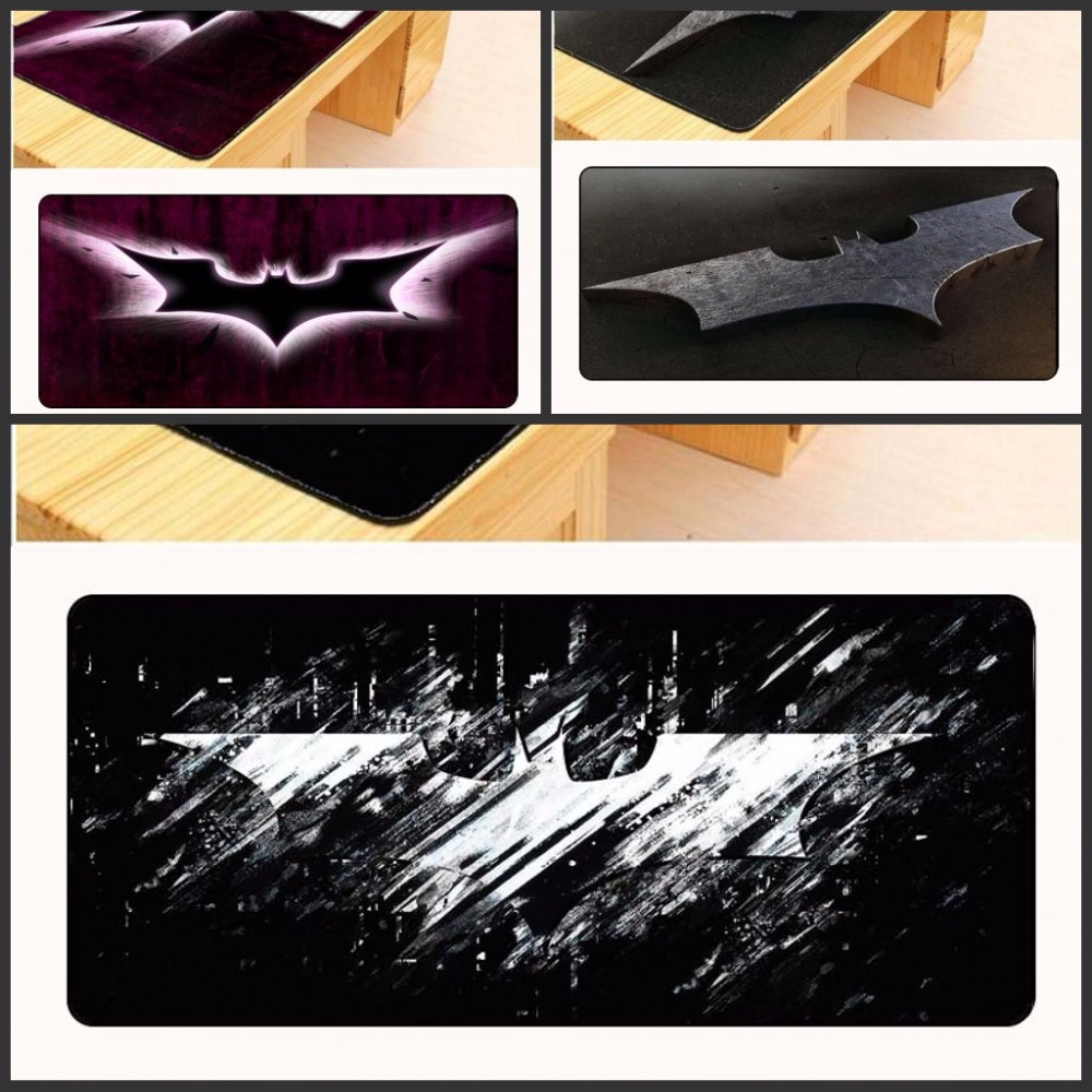 Computer Peripherals Yuzuoan Promotion Free Shipping Large Gaming Mouse Pad Locking Batman Mouse Mat Speed/control Version For Internet Bar Mousepad Relieving Rheumatism And Cold