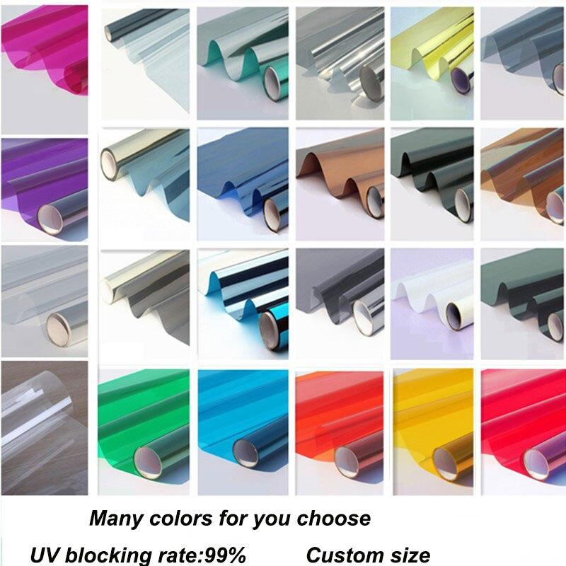 70cmx9m Anti uv mirror window film Self adhensive Anti UV Heat Insulation Decorative Window Film Foil
