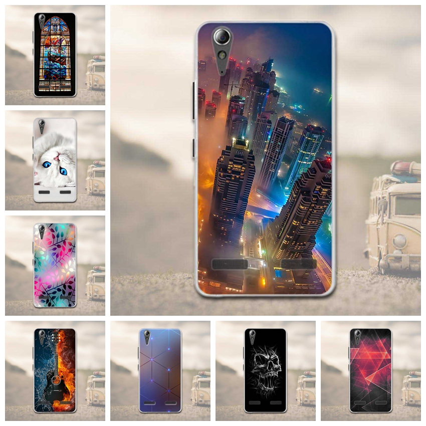 Soft TPU Printed Case for Lenovo A6010 Plus & A6000 & for Lenovo Lemon K3 K30-T Cover Skin 5