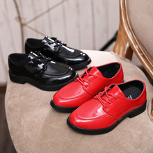 Black Red Unisex leather shoes Girl boys Fashion Kid Dress for students Dance Wedding Party black Childrens Shoes
