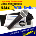 Free Shipping Top Quality SM 58 58LC SM58LC Handheld Switch Wired Mic Karaoke Dynamic Microphone Mike For SM58S 58S SM58SK 58SK