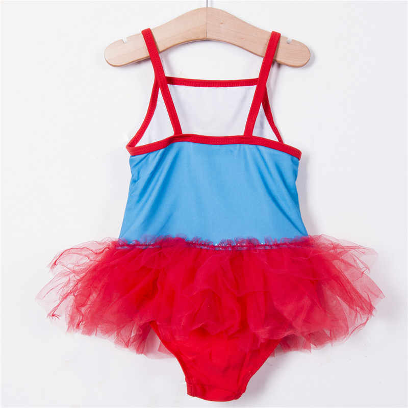 bf515a33a2 ... Girls One Piece Swimsuit Cartoon Superman Style Girls Swimwear Mesh  Patchwork Bathing Suit Tutu Skirts Swimwear ...