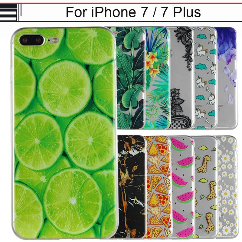 JURCHEN Case For iPhone 7 Plus Case Cover For iPhone7 Plus Silicone Soft Back Cover For iPhone 7 Plus Coque Cartoon Phone Case