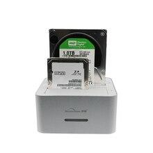 """Blueendless Universal casos de aluminio usb 3.0 hdd sata unidad de disco duro dock station 2.5 """"y 3.5 pulgadas SATA hdd caddy hdd clon cajas"""