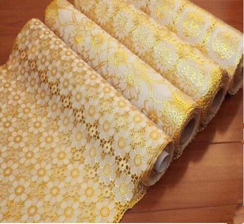 PVC feuille d'or tapis, table basse de style européen tissu sur mesure thé tapis de table imperméable isolation pad