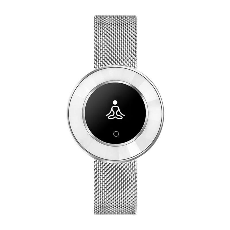 Montre intelligente femmes IP68 étanche surveillance de la fréquence cardiaque pression artérielle dame Smartwatch Fitness Tracker Bracelet - 6