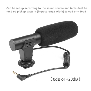 Image 2 - SHOOT 3.5mm External Stereo Condenser Microphone for Nikon Canon Sony DSLR Camera Vlogging Interview Video Recording Microphone