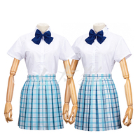 [Stock]HOT Movie Koe no Katachi Nishimiya Syouko JK School Girl Uniform +Wig+Socks Full set cosplay costume S-XL Free shipping