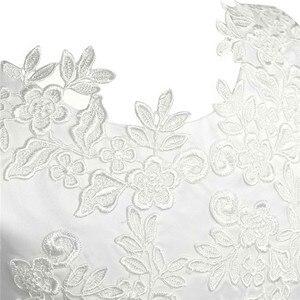 Image 5 - Wit/Ivoor Mouwloze Thee Lengte Eerste Communie Bloem Meisje Jurken Voor Kinderen Bloemen Kant Pageant Bruiloften Party Prom Gown