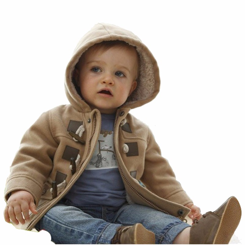 Nuovo Del Bambino Di Natale Dei Ragazzi Di Inverno Di Natale Caldo Della Tuta Sportiva Addensare Con Cappuccio Di Cuoio Del Faux Del Panno Morbido Vestito Giacca Cappotto Parka Snowsuit