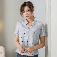 MARA ALEE Women Polka Dot Stripe Blouse Summer Chiffon Shirt Plus Size Women Clothing XXXXL 5XL Office Wear Top Femme 2018 WD059