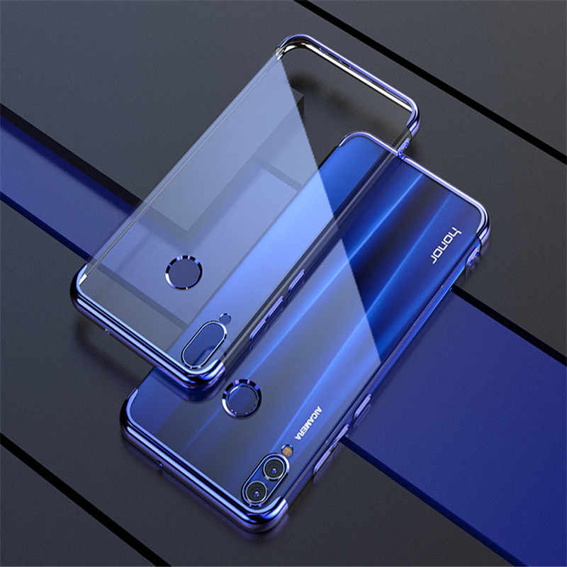 Soft TPU Clear Plating Case On Honor 8C For Huawei P smart 2019 Honor 8X Lite MAX 8 9 Lite 10 7A Pro 7C RU Shockproof Slim Cover