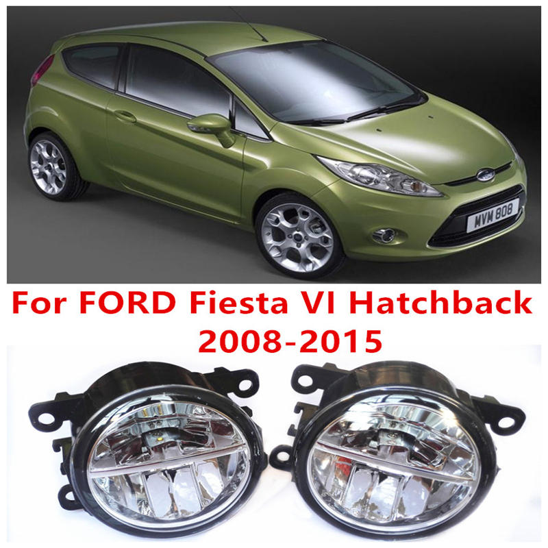 For FORD Fiesta VI Hatchback  2008-2015 Fog Lamps LED Car Styling 10W Yellow White 2016 new lights for lexus rx gyl1 ggl15 agl10 450h awd 350 awd 2008 2013 car styling led fog lights high brightness fog lamps 1set