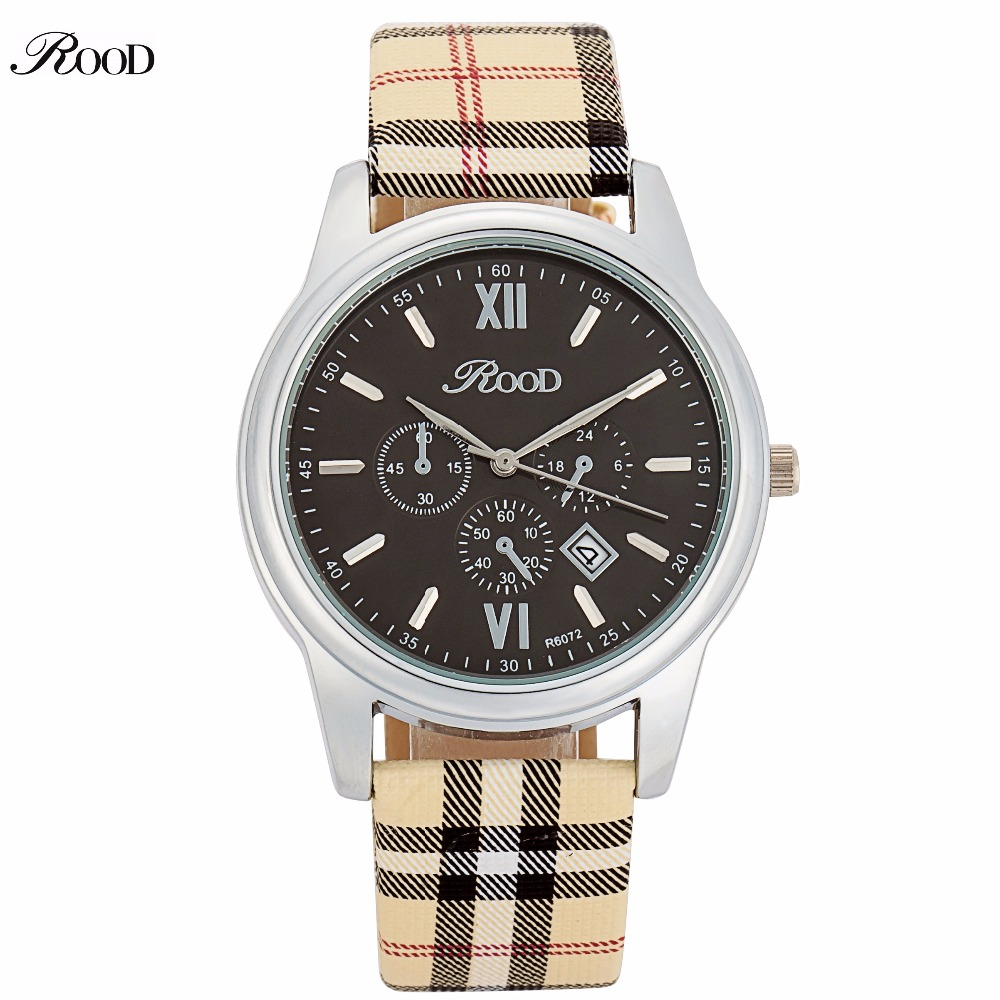 ROOD Brand Watch Women Watches Luxury 5 COLOR Leather Quartz Watch Ladies Watch Hour montre femme relogio feminino R6072