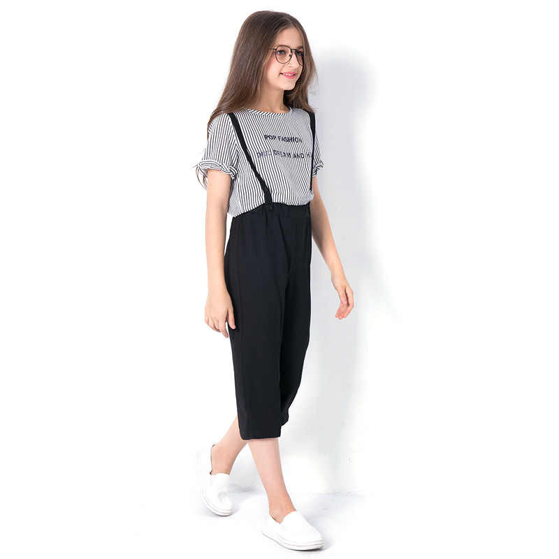 Teen Girls Clothing Sets Spring Summer Suit 2019 Lastest Fashion Tops Pants European Style Real Shot For Teenage 6 14 T Aliexpress