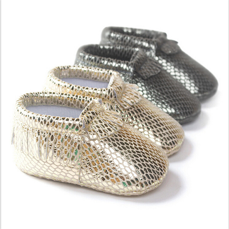 Fashion PU Leather Newborn Baby Boy Girl Baby Soft Shoes Soft Soled Non-slip Shoe ...