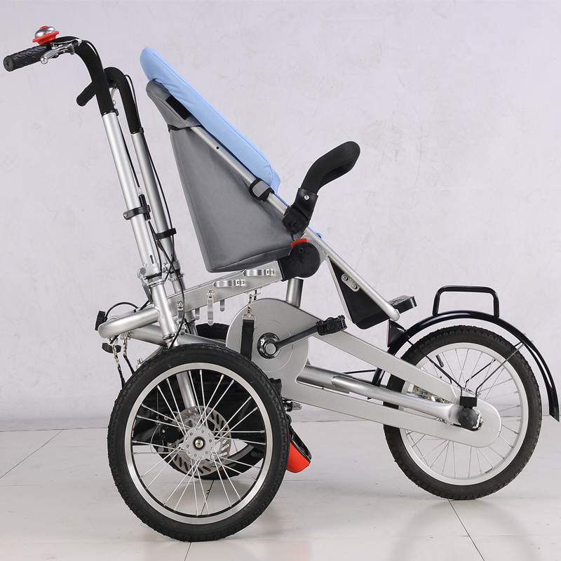 Hot Sell Baby and Mommy Bike Trolley 3 wheel Baby Boy Girls Pushchair Strollers Kids Foldable Strollers 2 in 1 Prams blue** avoid the ultraviolet radiation with the canopy pushchair baby build a safe soft environment for babies boys and girls pushchair