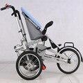 Venta caliente Bebé y Mamá Moto Carro 3 ruedas Bebé niñas Cochecito Cochecitos Cochecitos de Niños Plegable 2 en 1 Cochecitos azul **