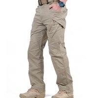 IX9 City Tactical Cargo Pants Men Combat SWAT Army Military Pants Cotton Many Pockets Stretch Flexible