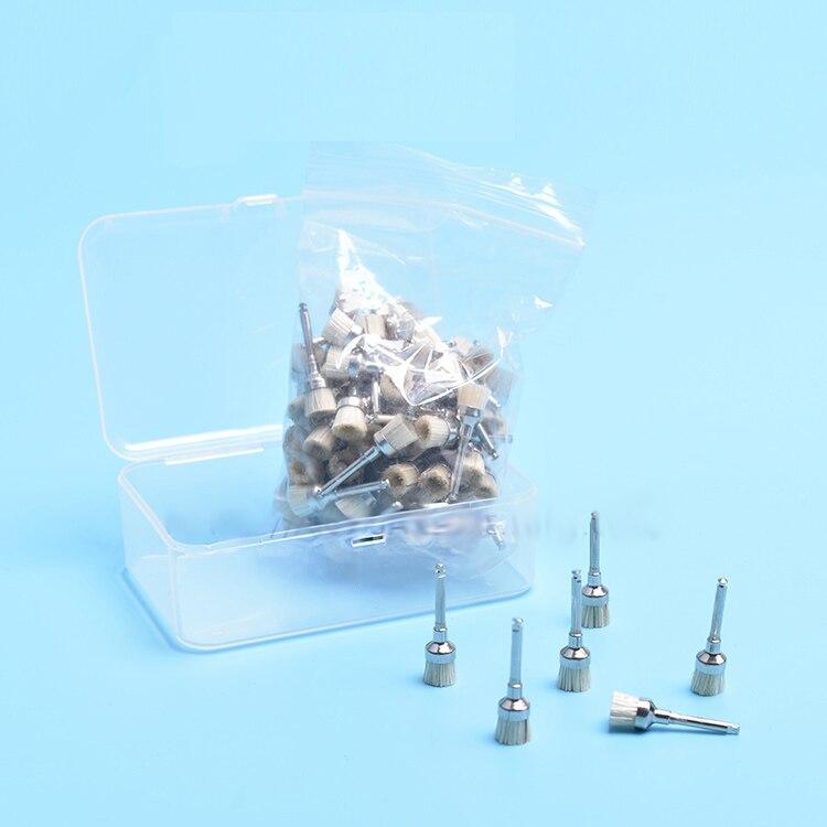 Dental polishing brush bristle brush bristle polishing brush bowl polishing brush dental materials 3 bristle
