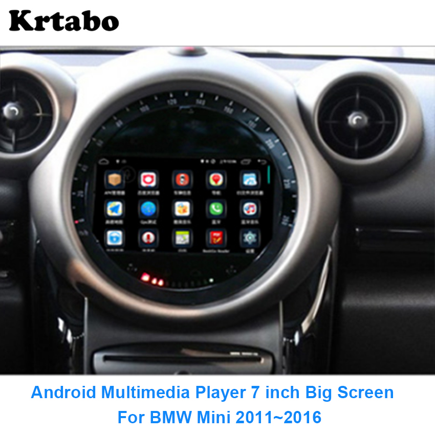 Car radio Android multimedia player For BMW Mini 7 inch 2011~2016 Car touch screen GPS Navigation Support Carplay Bluetooth