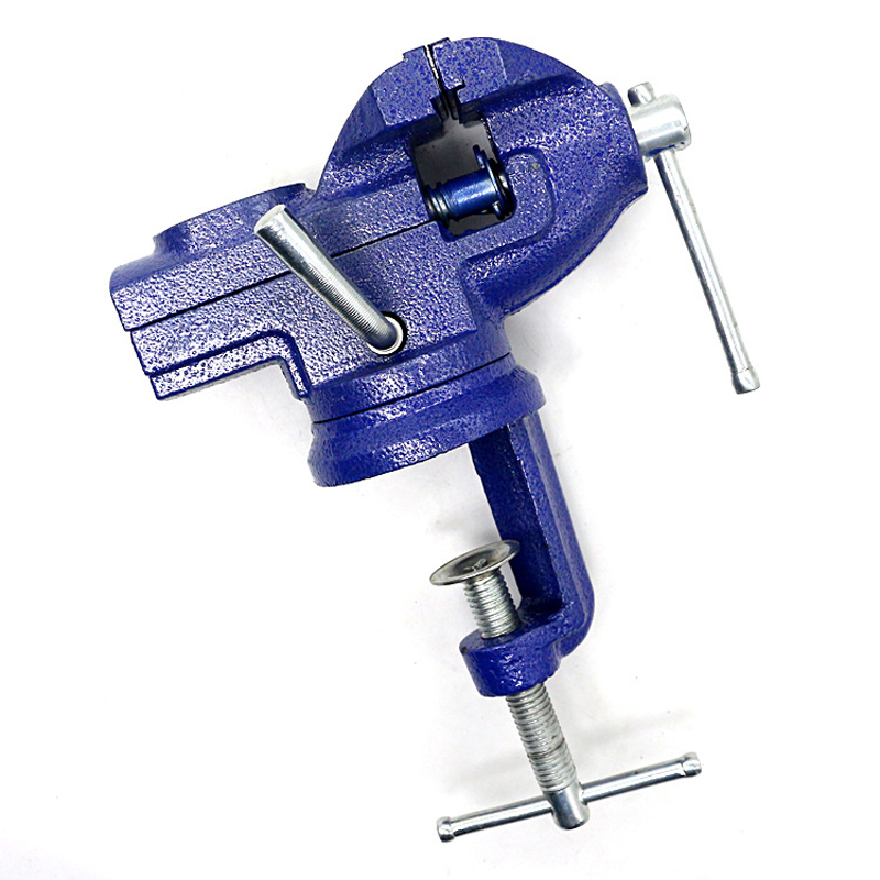 50mm 360 Degree Rotatable Mini Table Vise Cast Iron Universal Vise Multi-functional Flat Pliers Manual Bench Clamp u star ua 90632 high precision mini vise fixed 360 degree rotation universal model table bench vise