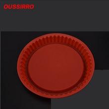 Cor aleatória 27cm redonda bandeja de cozimento de bolo de silicone ferramentas de cozimento de alta temperatura molde de pão liberação fácil