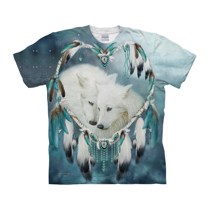 EU Size Wolf printed Tee 3D T shirt Men Women Unisex Tshirts  With Unique Summer Autumn Loose Tshirt Fashion Tops Short Sleeve