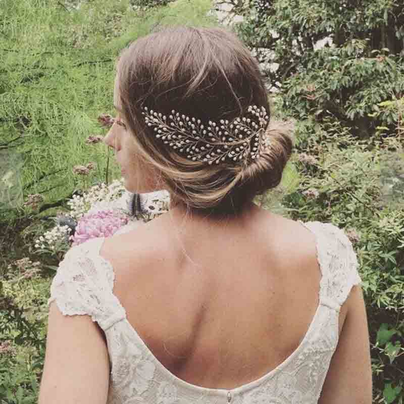 Noble Simulated Pearl Bridal Wedding Head Piece Bride Headwear Hair Combes Handmade Women Party Jewelry Wedding Hair Accessories