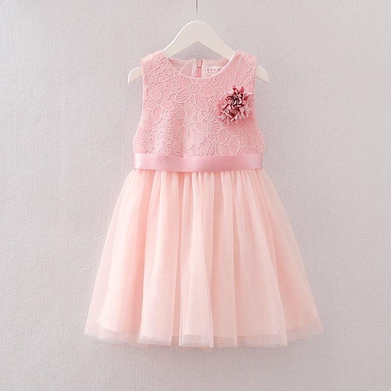 8b7dbd43da4d56b От 2 до 5 лет новый подарок 2018 летнее кружевное платье для девочек без  рукавов Хлопковые