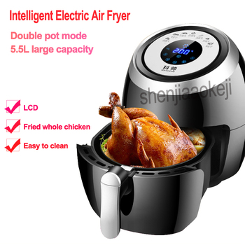 220v Intelligent Electric non-oil fume Air Fryer Multi-functional Household Touch screen Air Fryer Double pot Fryer EU/AU/UK/US