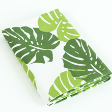 50*145cm Printed Green Leaf cotton and linen fabric by half meter for DIY sofa curtain tablecloth  Cloth Material