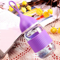 Mini Portable Lead Free Glass Water Bottle Cute Kids Student School Travel Water Bottle Leak Proof