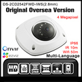 HIKVISION DS-2CD2542FWD-IWS(2.8mm) hik original English version Hik CCTV Camera 4MP Dome POE Wifi ONVIF Audio Alarm IP Camera HD
