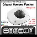 Hikvision ds-2cd2542fwd-iws (2.8mm) hik versão original em inglês hik 4mp câmera de cctv dome poe onvif wi-fi de alarme de áudio câmera ip hd