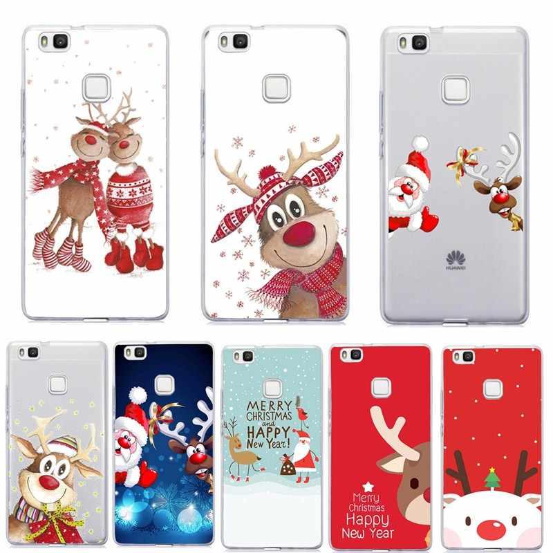 Милый чехол для телефона, чехол для huawei P20 Lite, Силиконовый ТПУ, Рождественский чехол для huawei Honor 10 lite p smart 2019 p9 mate 10 lite