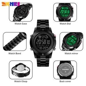 Image 3 - SKMEI montre connectée avec podomètre, calories, horloge dactivité physique, numérique, moniteur de fréquence cardiaque et de sommeil, Bluetooth montre pour hommes