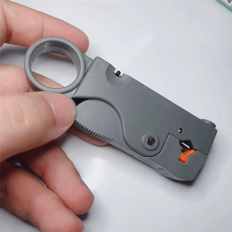ポータブルワイヤーストリッパーナイフ工具プライヤー圧着ツール自動プライヤーケーブルストリッパーツールダブルブレード剥奪